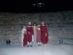 as the Messenger in the Persians, 2007 (Pafos, Cyprus)