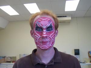 """Porky""'s makeup for The Monkey King, 2006 (Texas Shakespeare Festival)"