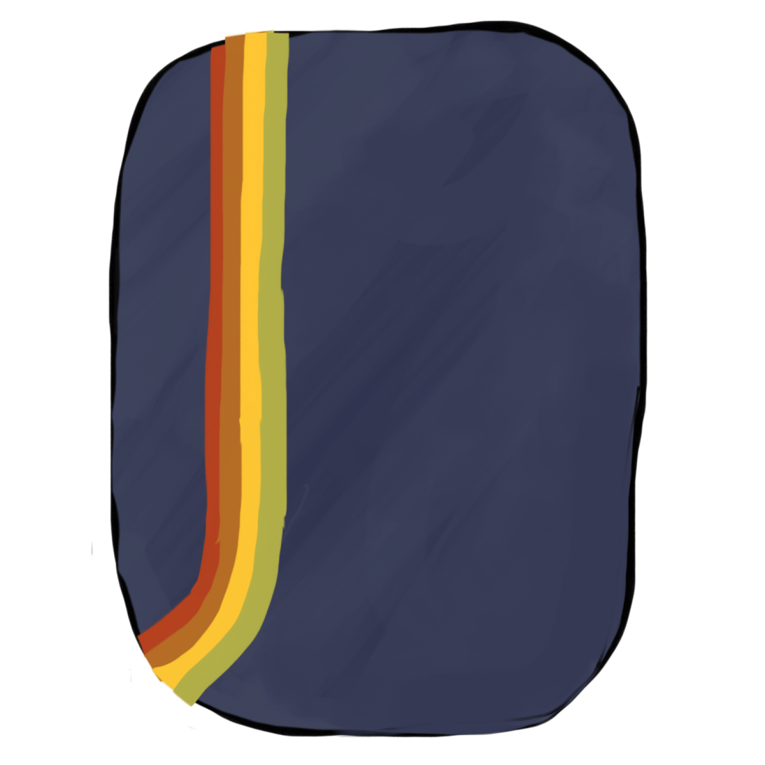 Retro schoolbag color scheme