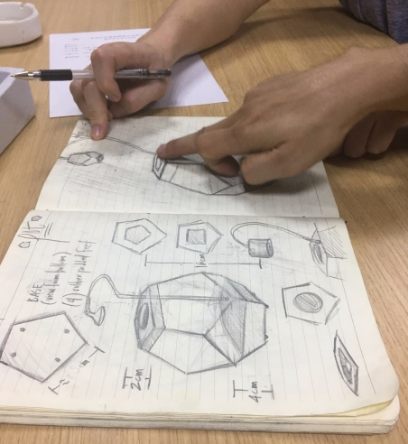 discussing the design